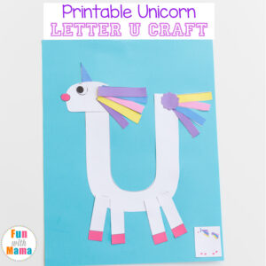 printable letter u crafts unicorn