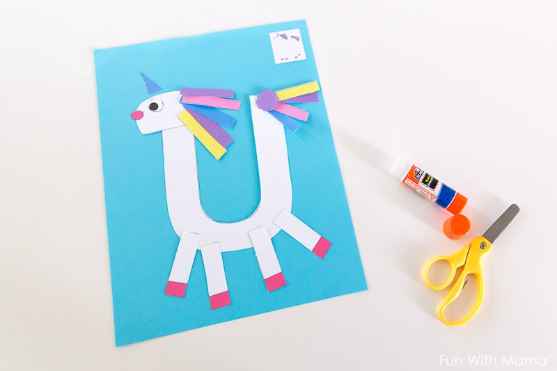 Printable letter u craft unicorn fun with mama letter crafts spiritdancerdesigns Choice Image