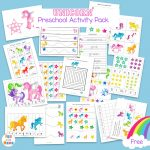 Unicorn Preschool Activity Pack