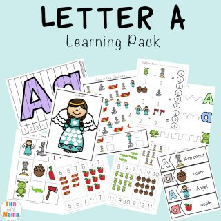Letter A Preschool Printable Pack