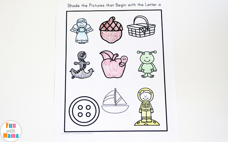 letter a worksheets for preschoolers