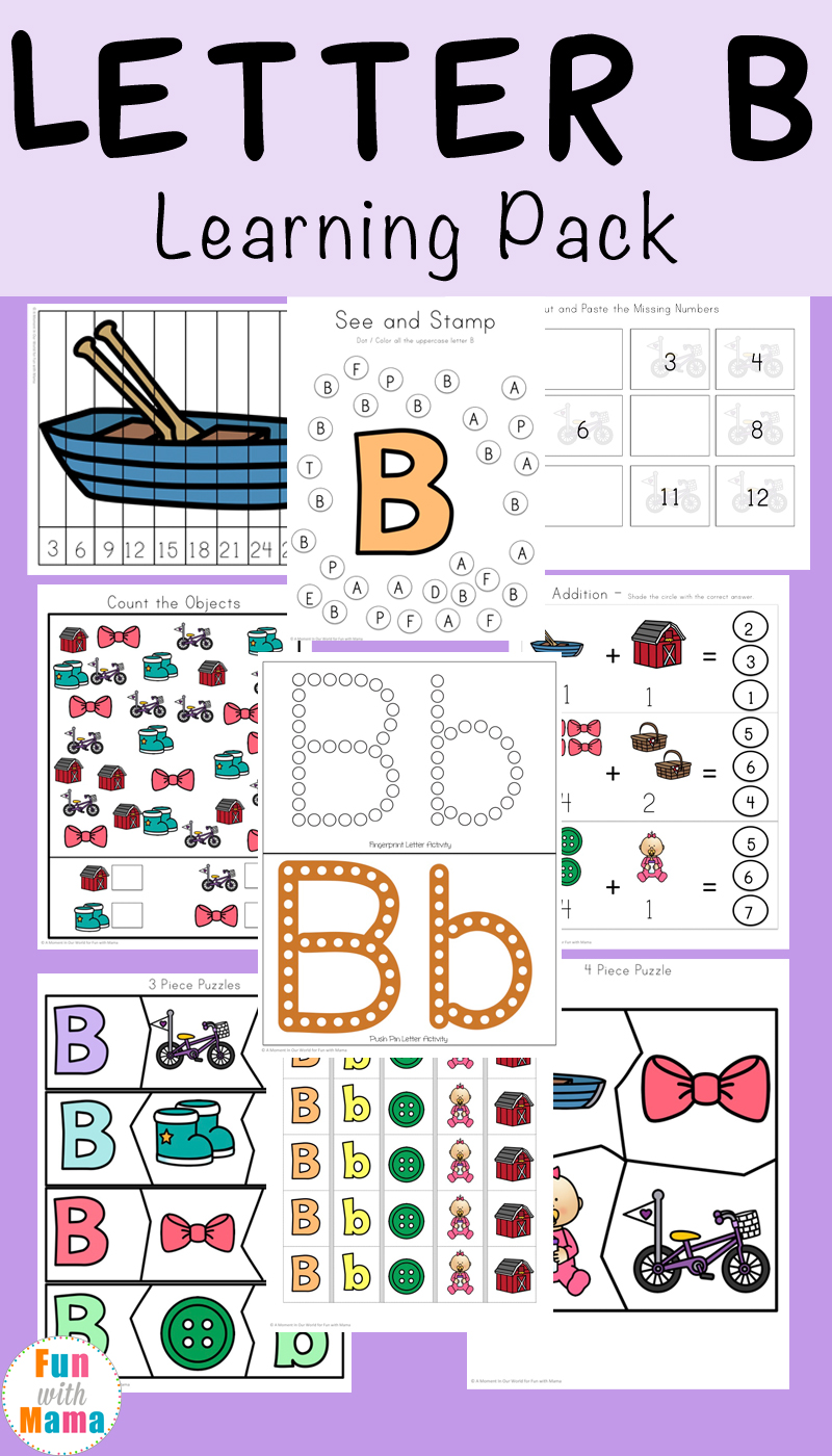 Letter b preschool printable pack fun with mama this free letter b preschool printable learning pack is geared towards children ages 3 7 dont forget to grab all of our free alphabet abc printable packs ibookread ePUb