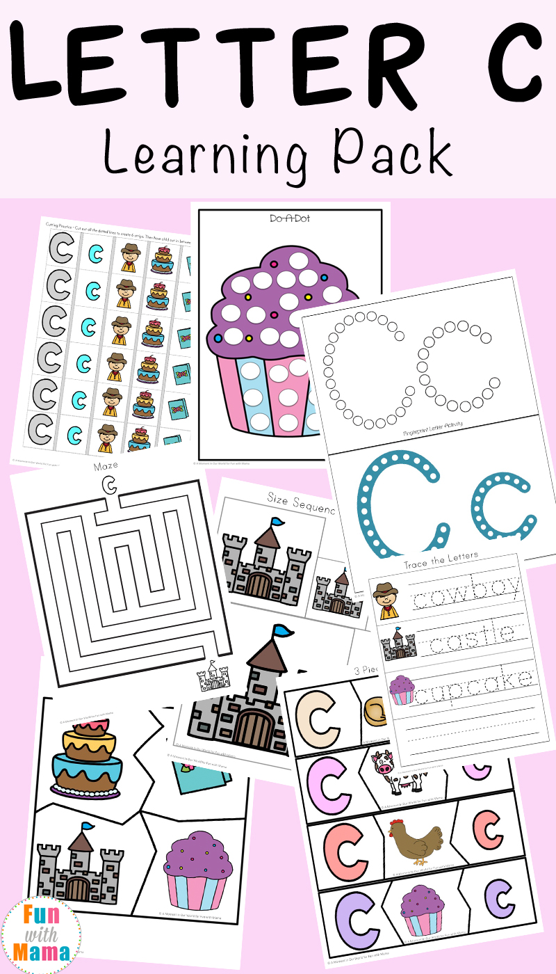 Letter C Worksheets And Printables Pack Fun With Mama
