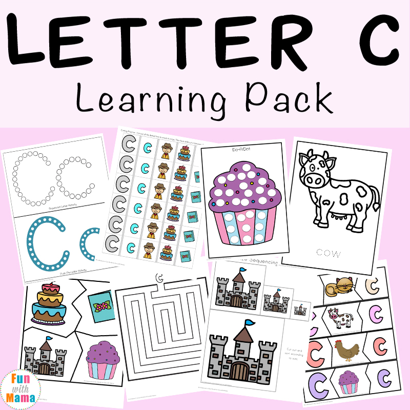 Letter C Worksheets And Printables Pack - Fun With Mama