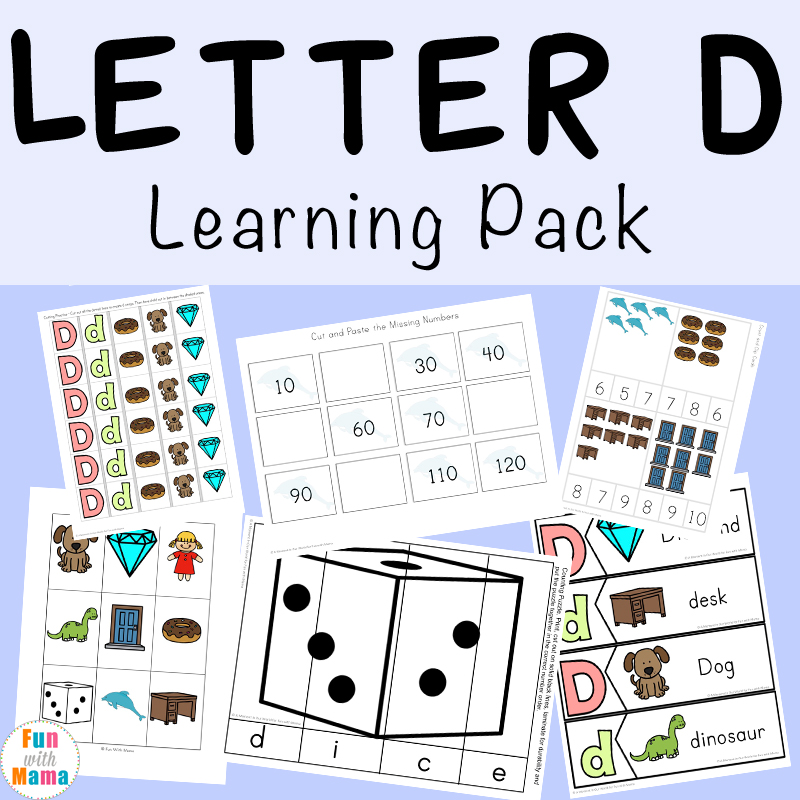 Letter D Worksheets + Activities - Fun With Mama