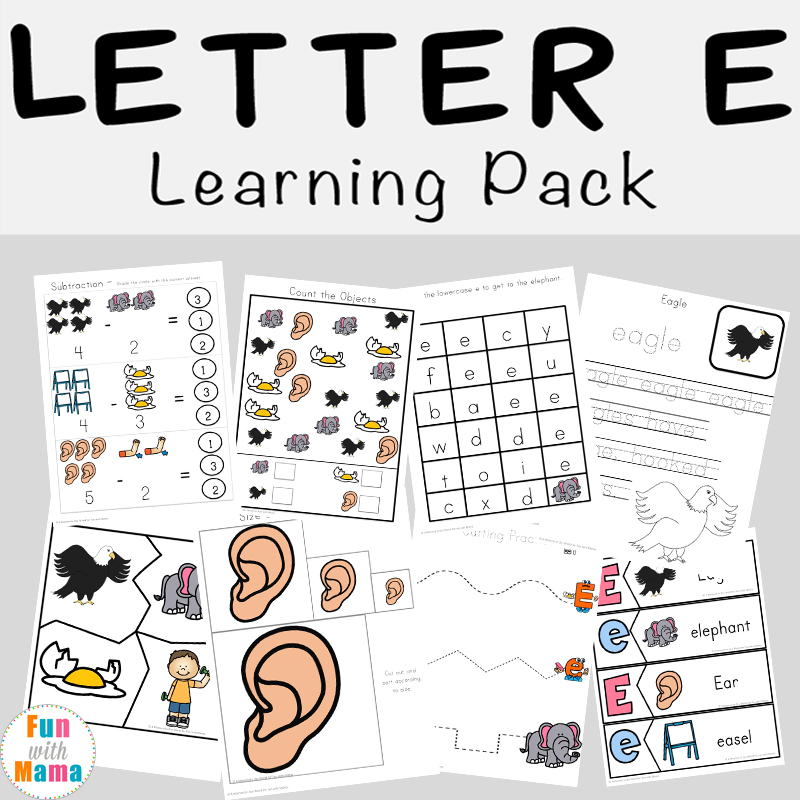 Letter E Worksheets + Activities - Fun With Mama