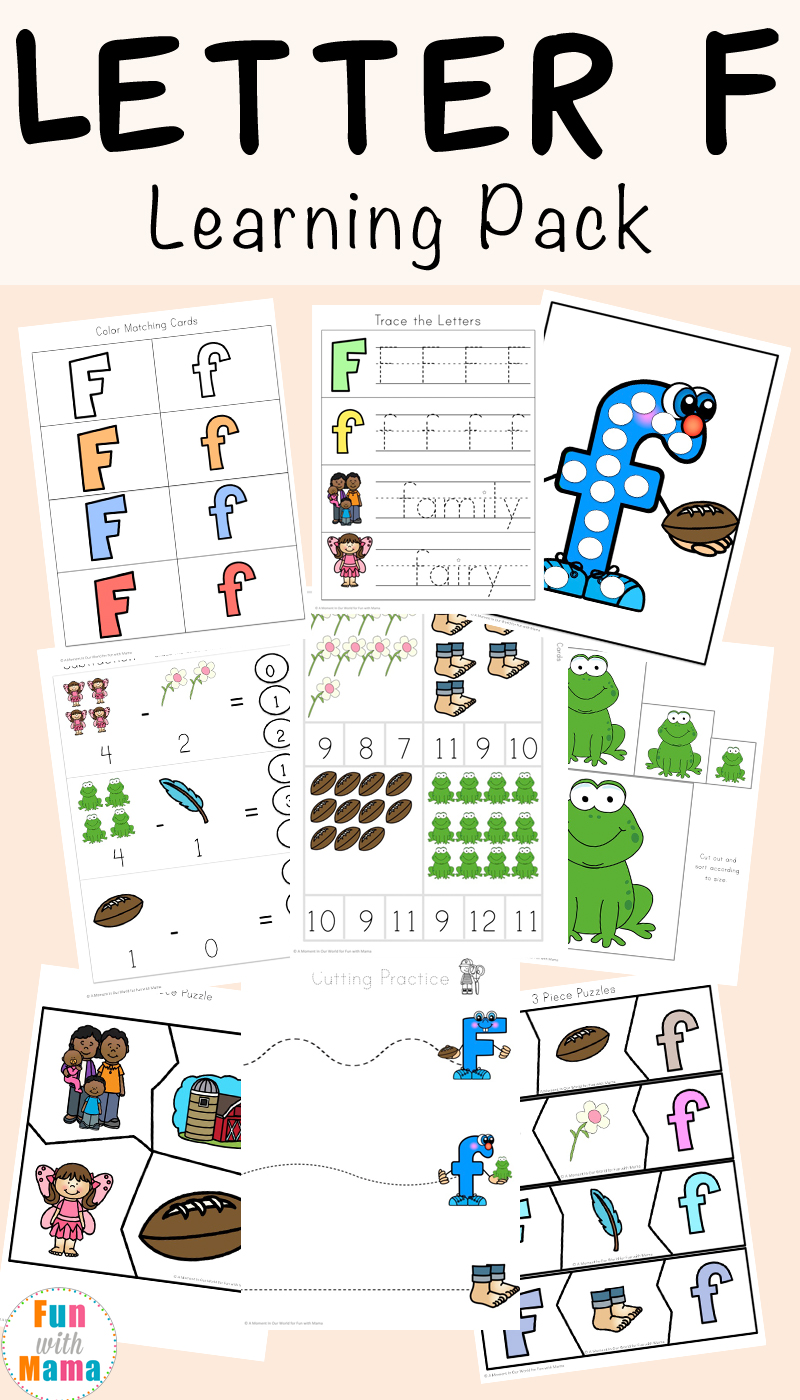 free letter f worksheets fun with mama