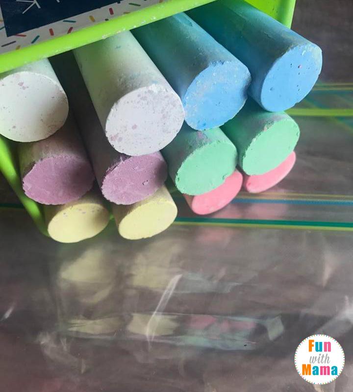 Super Easy Sidewalk Chalk Paint Play Recipe