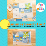 Summer Beach Fun Rhyming Puzzle And Build A Scene Printables