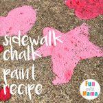 Easy Sidewalk Chalk Paint For Kids + Recipe