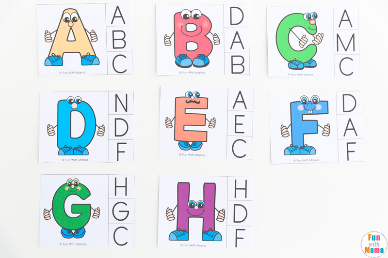 alphabet letter matching games