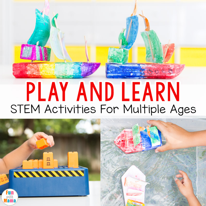 Play and Learn – STEM Activities + Toys for Multiple Ages!