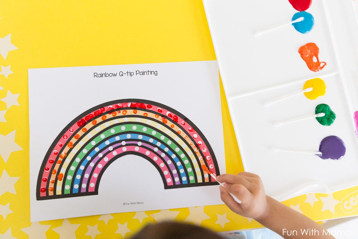 q-tip-art-preschool-templates