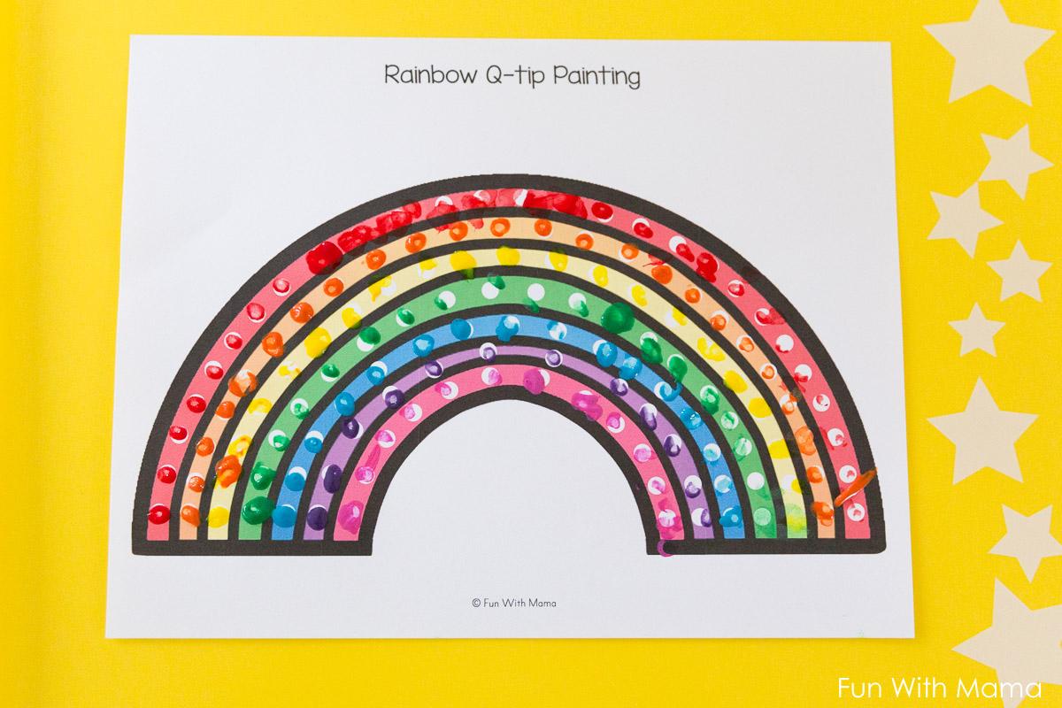 q-tip art sheets