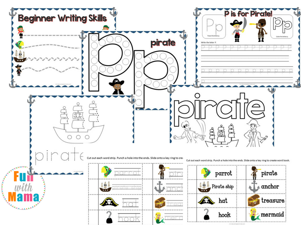 52 Page Pirates Preschool Activity Pack