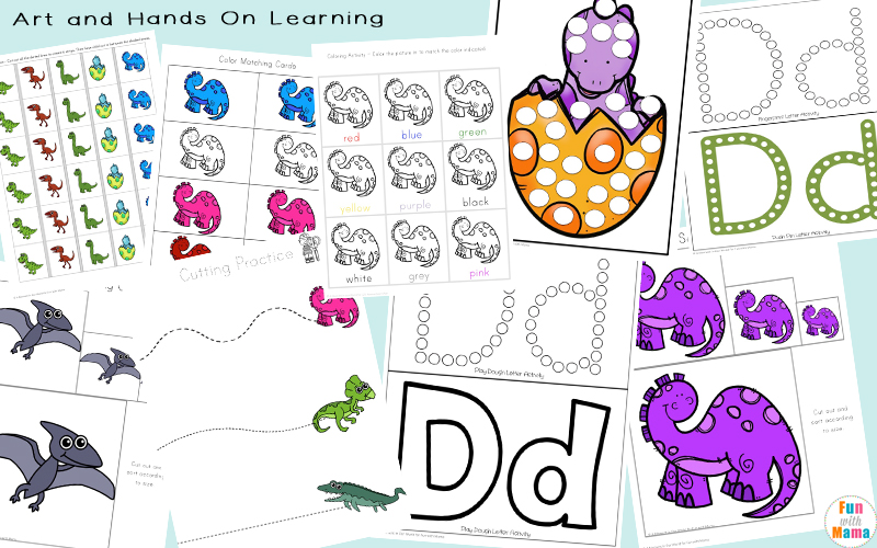 dinosaur activities for 2 year olds