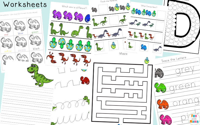 Dinosaur Preschool Printable Pack Fun With Mama. Dinosaur Activities For Preschool. Printable. Printable Dinosaur Worksheets At Mspartners.co