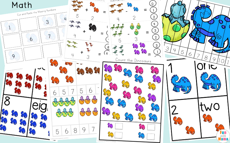 Dinosaur Lovers will enjoy this fun Dinosaur Preschool Printable Pack aimed at children ages 3 - 8.