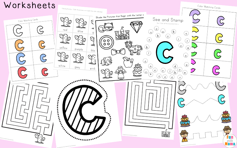 Letter C Worksheets and Printables Pack Fun with Mama – C Worksheets