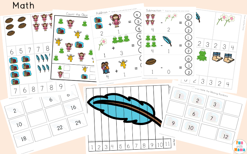 Free printable letter f activities, worksheets, crafts and learning pack.