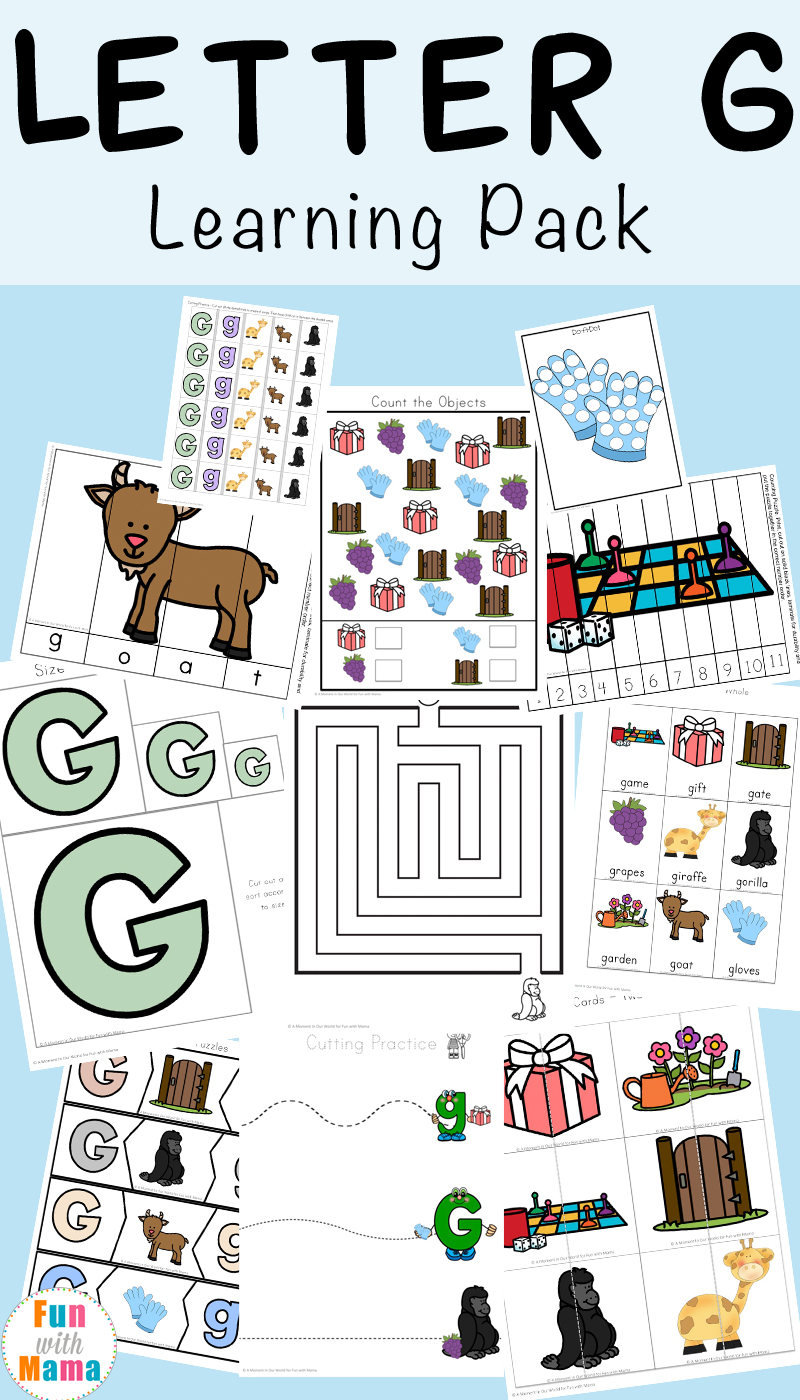 Letter G Worksheets Fun With Mama