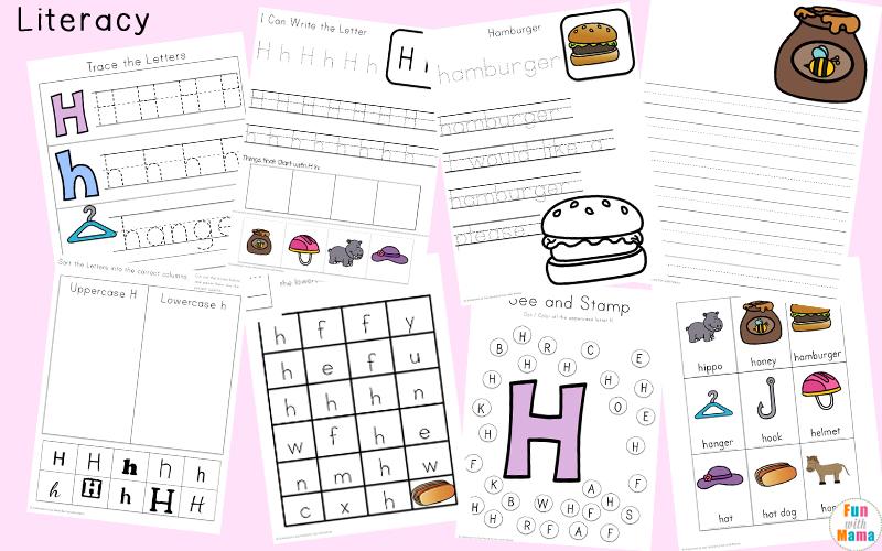 letter h handwriting worksheets