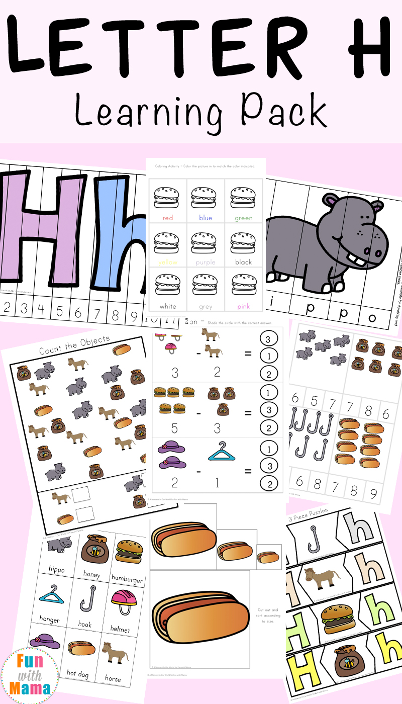 Workbooks letter a printable worksheets : Letter H Worksheets + Activities - Fun with Mama