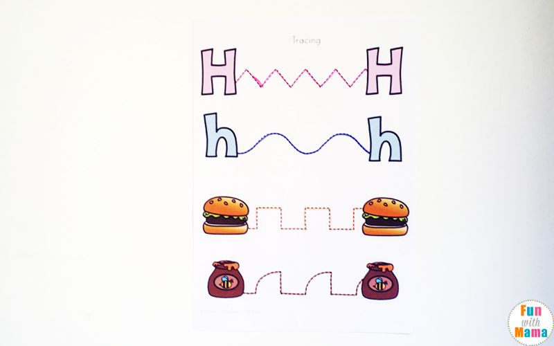 letter h tracing activity