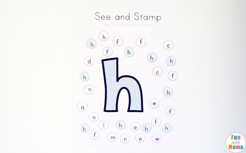 find the letter h worksheet