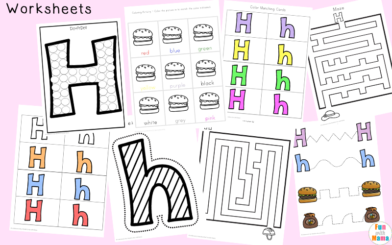 Letter H Worksheets Activities Fun with Mama