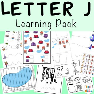 Free printable letter j activities, worksheets, crafts and learning pack.