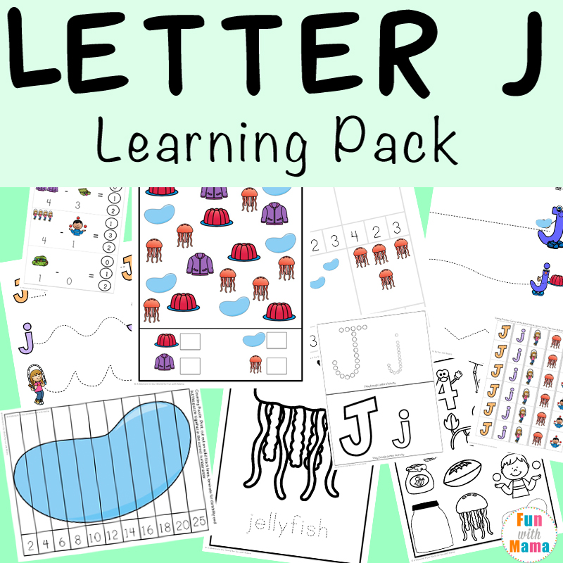 Letter J Worksheets  Activities  Fun With Mama Letter J Worksheets