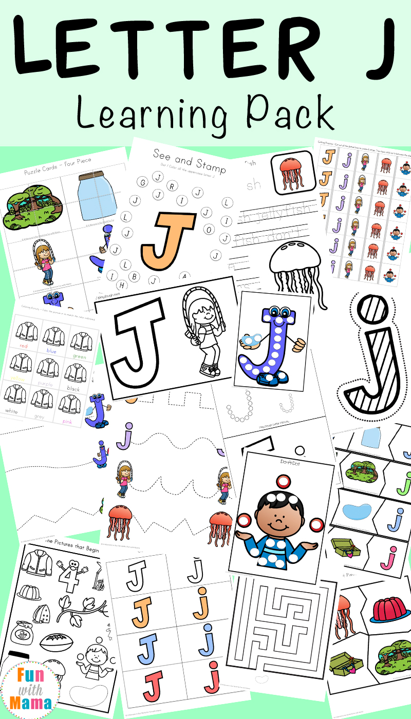 Letter J Worksheets  Activities  Fun With Mama Free Printable Letter J Activities Worksheets Crafts And Learning Pack