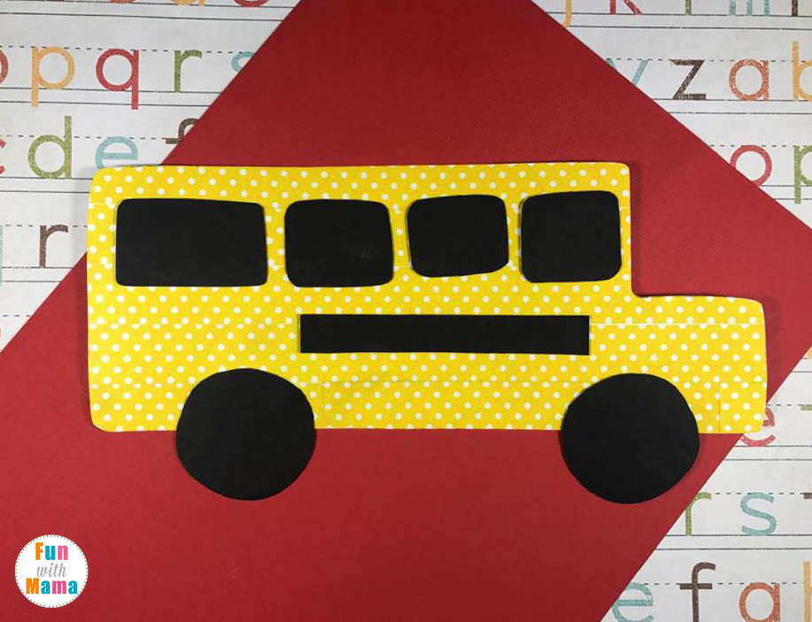 Washi Tape School Bus Craft For Kids. Perfect for back to school or to tie with the children's book: The Wheels On The Bus