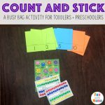 Count and Stick Easy Busy Bag!