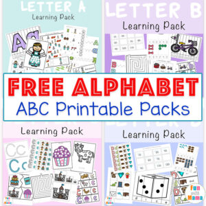 Free Alphabet ABC Printable Packs