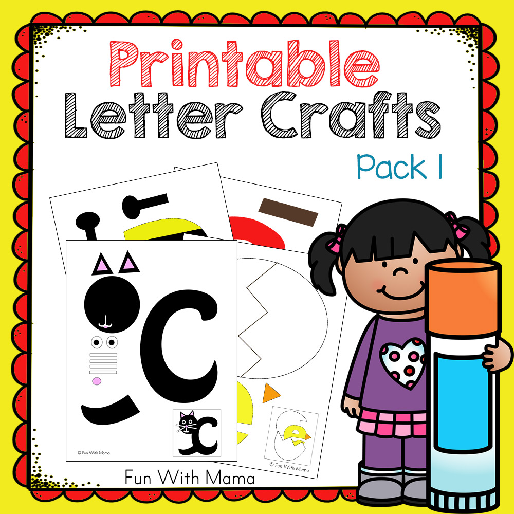Cover Letter For Children S Book M Cript : Printable letter crafts pack fun with mama