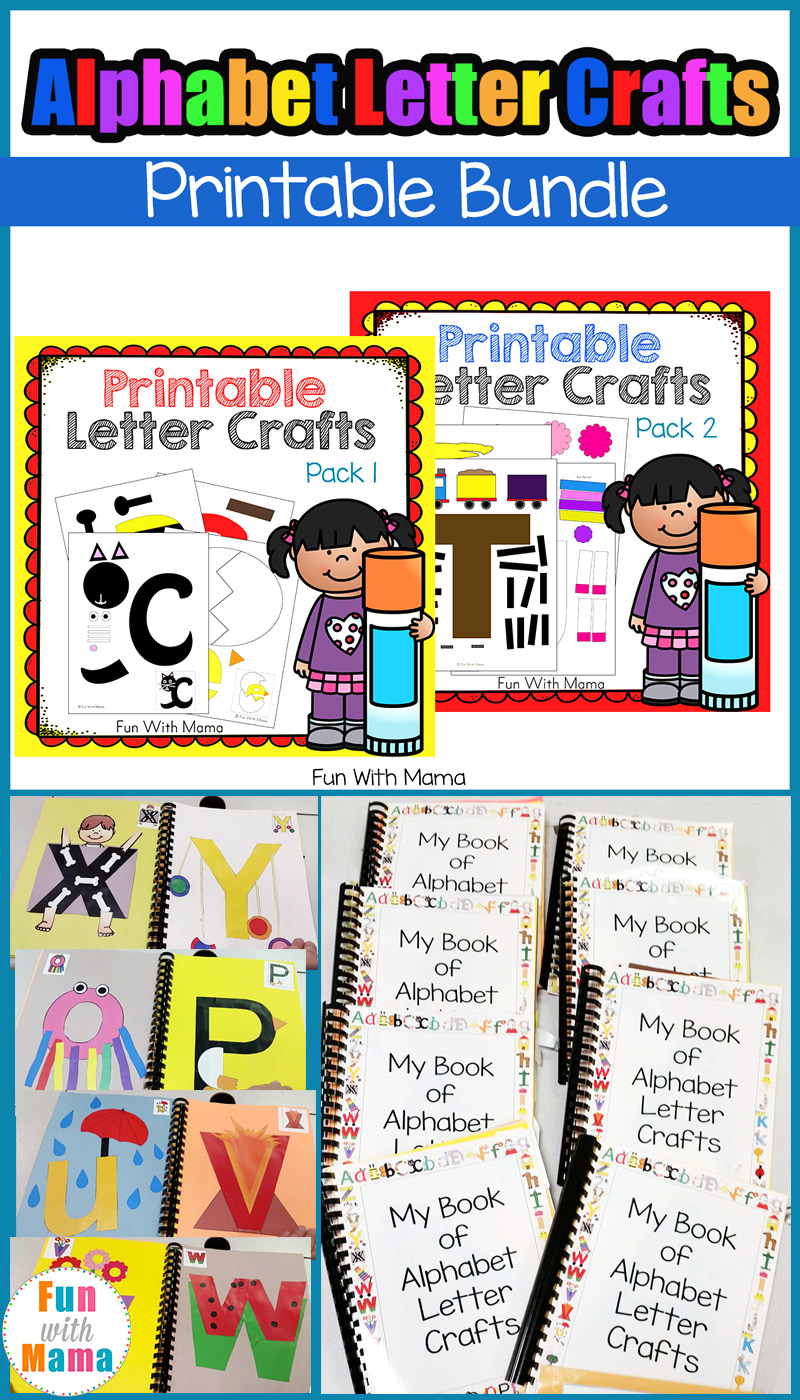 letter alphabet crafts alphabet letter crafts bundle with 6932