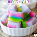 Unicorn Inspired Food: Unicorn Yogurt Bites