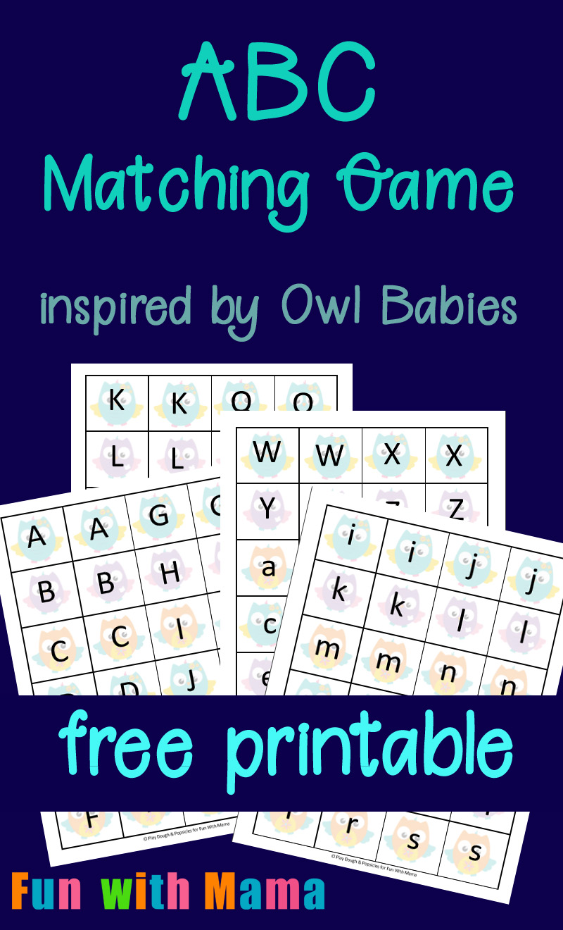 Free Printable Baby Owl ABC Matching Game Inspired By Owl Babies Children's Book
