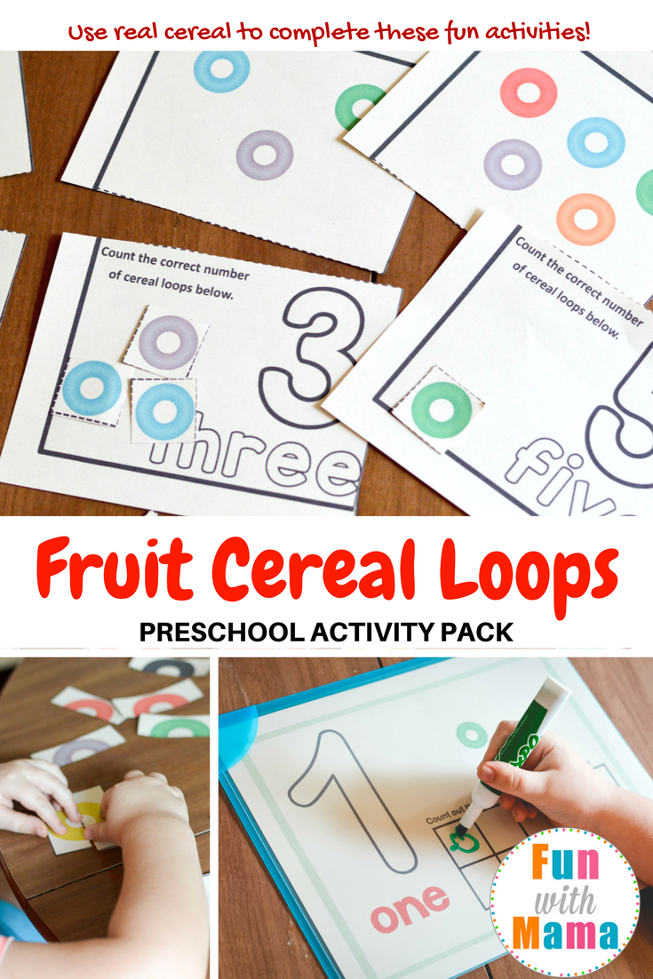 Fruit Loops Activities For Kids Toddlers And Preschool Printable Counting Color Recognition