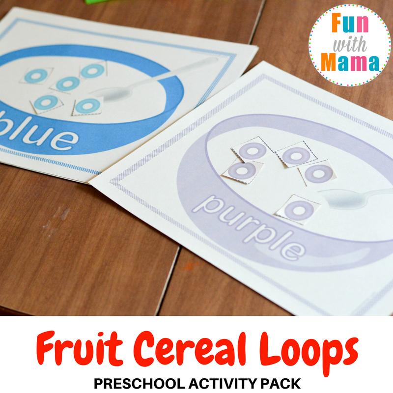 fruit loops sorting mats