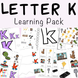 Free printable letter k activities, worksheets, crafts and learning pack.