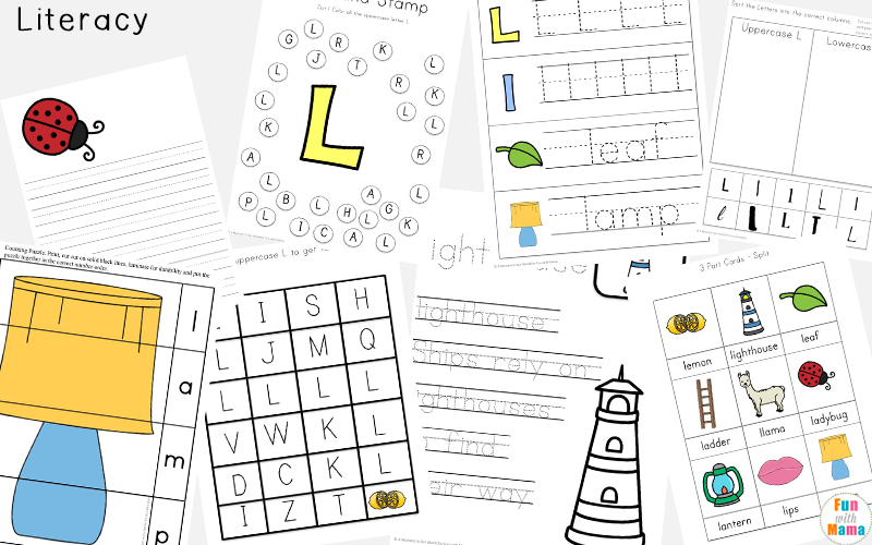 letter l phonics worksheets