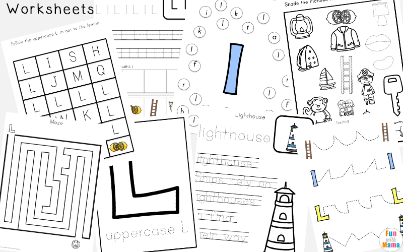 Letter L Activities for Preschool Kindergarten Pack Fun with Mama
