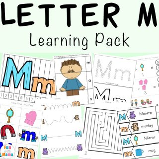 Free printable letter m activities, worksheets, crafts and learning pack.