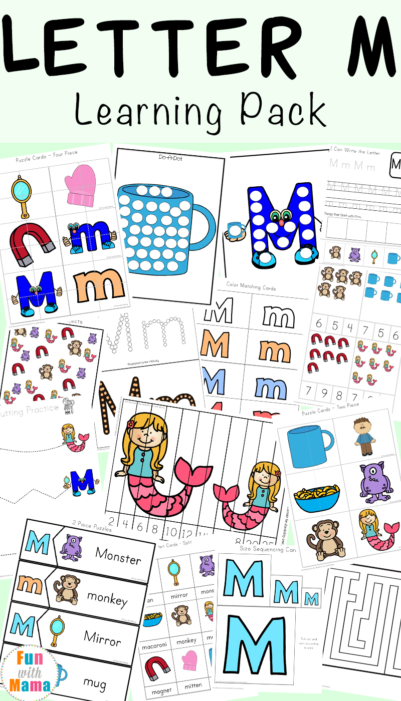 Letter M Activities for Letter the Week Fun with Mama