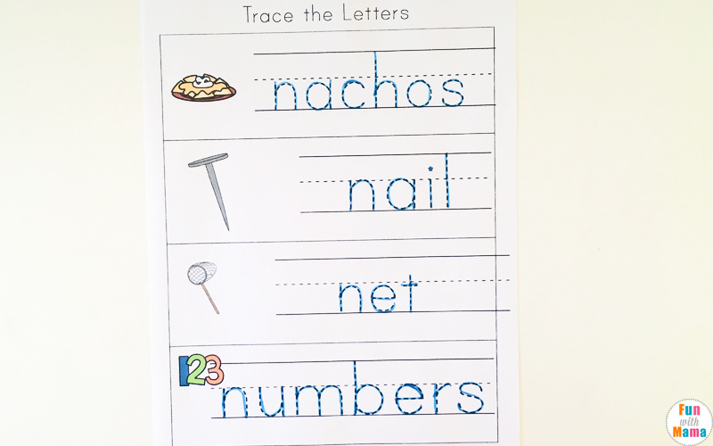 letter n handwriting worksheets