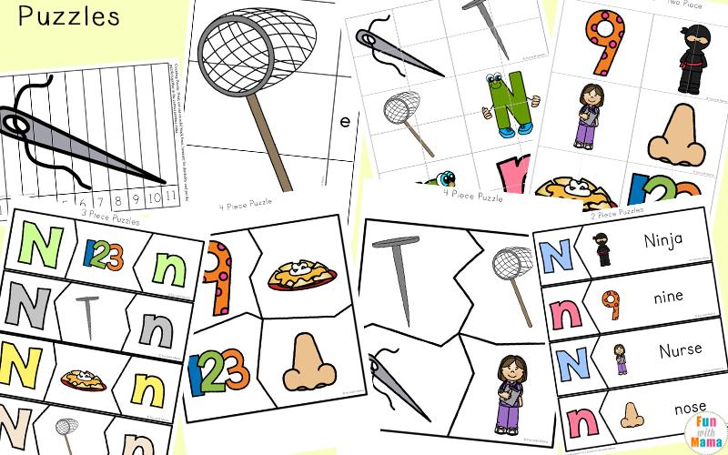 letter n activities for preschoolers