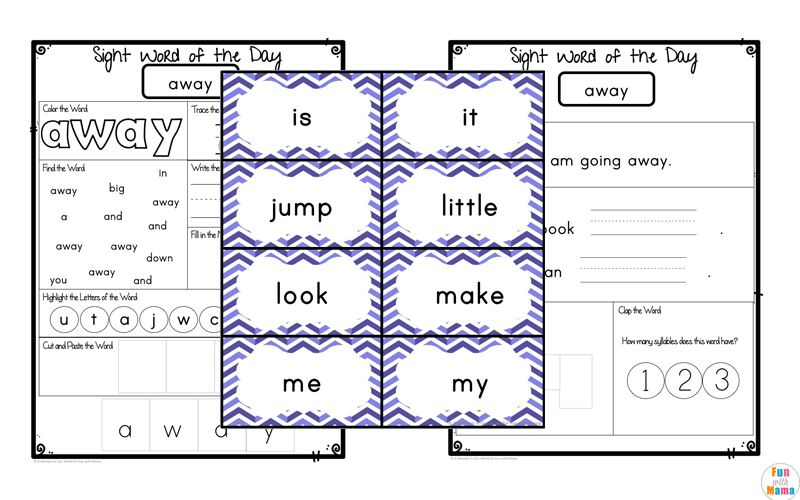 dolch pre primer sight word worksheets